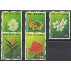 Papua New Guinea - 1997 - Nb 785/789 - Flowers