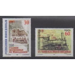 Macédoine - 1998 - No 134/135 - Chemins de fer