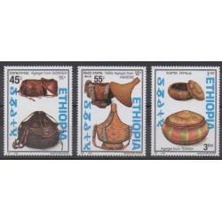Éthiopie - 1998 - No 1484/1486 - Artisanat ou métiers
