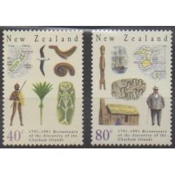 Nouvelle-Zélande - 1991 - No 1100/1101 - Histoire