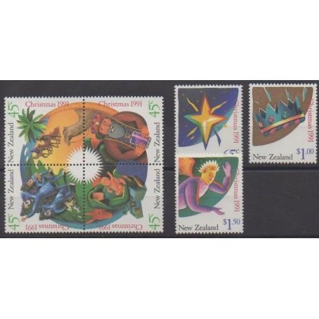 New Zealand - 1991 - Nb 1145/1151 - Christmas