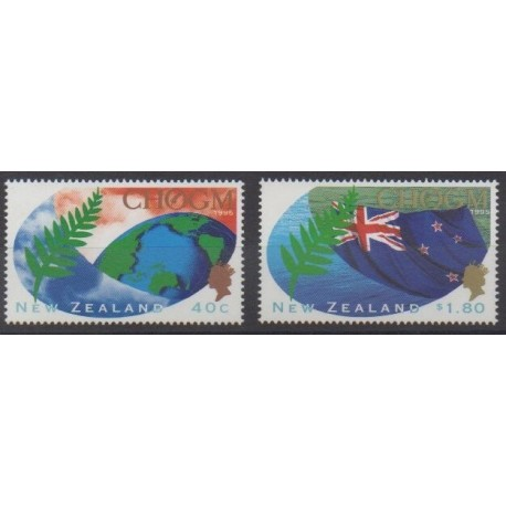 New Zealand - 1995 - Nb 1416/1417 - Flags