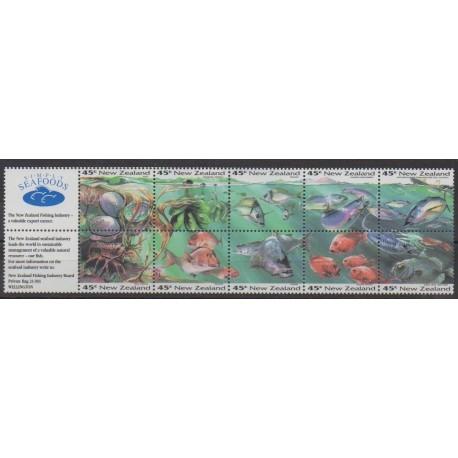 New Zealand - 1993 - Nb 1253/1262 - Sea life