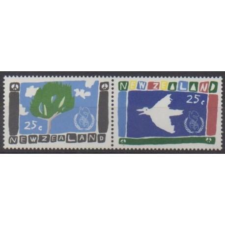 New Zealand - 1986 - Nb 918/919 - Children's drawings