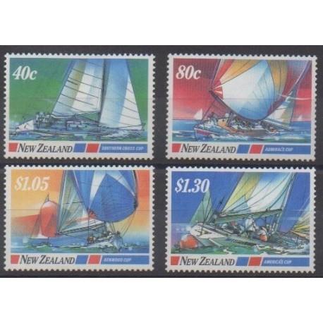 New Zealand - 1987 - Nb 950/953 - Boats