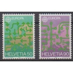 Swiss - 1988 - Nb 1298/1299 - Transport - Europa