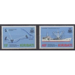 Kiribati - 1985 - No 147/148 - Télécommunications - Transports