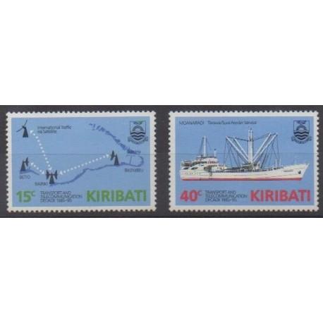 Kiribati - 1985 - No 147/148 - Télécommunications - Transports