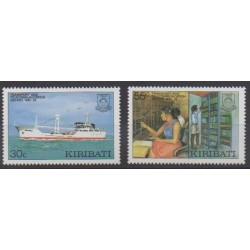 Kiribati - 1987 - No 166/167 - Télécommunications - Transports