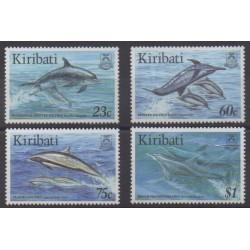 Kiribati - 1996 - No 371/374 - Vie marine - Mammifères