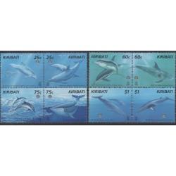 Kiribati - 1998 - No 414/421 - Vie marine - Mammifères