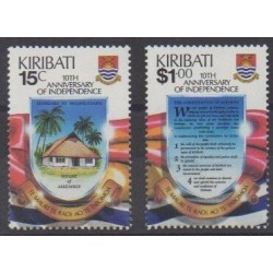Kiribati - 1989 - Nb 203/204 - Various Historics Themes