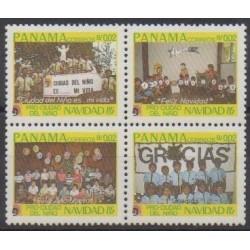 Panama - 1985 - No 972/975 - Noël - Enfance