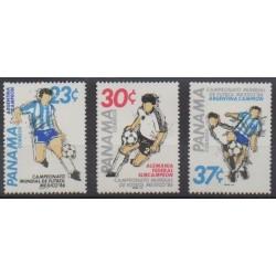 Panama - 1986 - Nb 988/990 - Soccer World Cup
