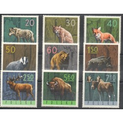 Pologne - 1965- No 1483/1491 - Animaux