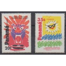 Panama - 1987 - No 1005/1006 - Masques ou carnaval