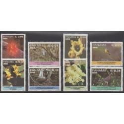 Panama - 1987 - No 1008/1015 - Fleurs - Oiseaux