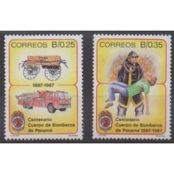 Panama - 1987 - No 1024/1025 - Pompiers
