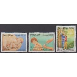 Panama - 1988 - No 1042/1044 - Santé ou Croix-Rouge - Enfance
