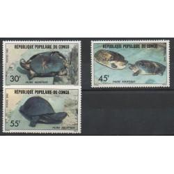 Congo (République du) - 1982- No 684/686 - Vie marine