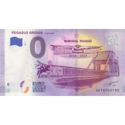 Euro banknote memory - 14 - Pegasus Bridge - 2020-2 - Nb 180