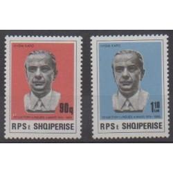 Albanie - 1985 - No 2055/2056 - Célébrités