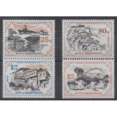 Albanie - 1985 - No 2084/2087 - Architecture