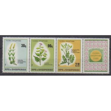Albanie - 1988 - No 2163/2165 - Fleurs