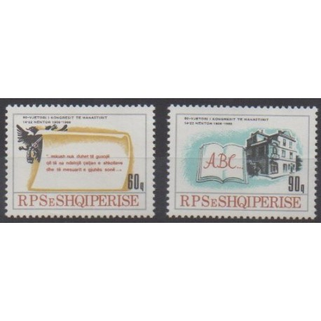Albania - 1988 - Nb 2173/2174 - Various Historics Themes