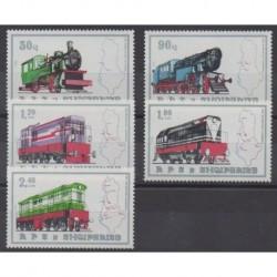 Albanie - 1989 - No 2175/2179 - Chemins de fer