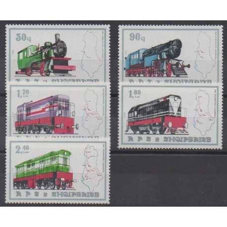 Albania - 1989 - Nb 2175/2179 - Trains