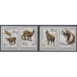 Albania - 1990 - Nb 2215/2218 - Mamals - Endangered species - WWF