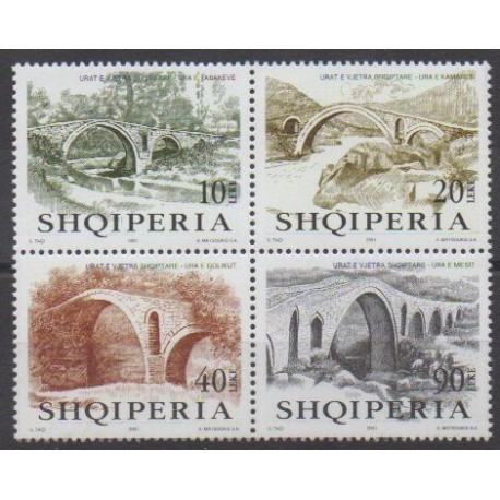 Albanie - 2001 - No 2574/2577 - Ponts