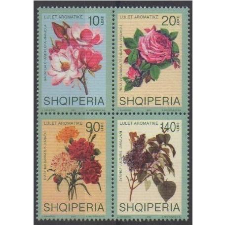 Albanie - 2001 - No 2557/2560 - Fleurs