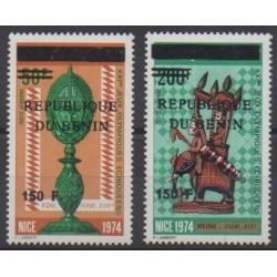 Bénin - 1996 - No PA205/PA206 du Dahomey surchargés - Échecs