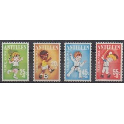 Netherlands Antilles - 1986 - Nb 785/788 - Childhood - Various sports