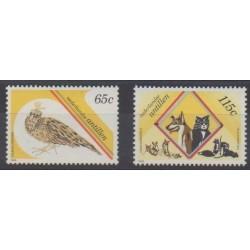 Antilles néerlandaises - 1989 - No 845/846 - Animaux