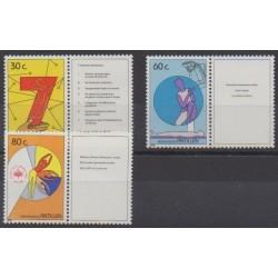 Antilles néerlandaises - 1989 - No 856/858 - Santé ou Croix-Rouge