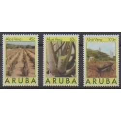 Aruba (Netherlands Antilles) - 1988 - Nb 37/39 - Flora