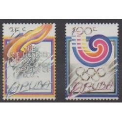 Aruba - 1988 - No 49/50 - Jeux Olympiques d'été - Jeux olympiques d'hiver