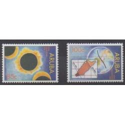 Aruba (Netherlands Antilles) - 1998 - Nb 217/218 - Astronomy