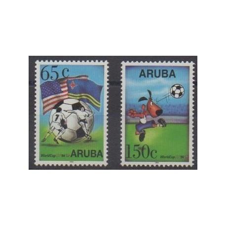 Aruba (Netherlands Antilles) - 1994 - Nb 142/143 - Soccer World Cup