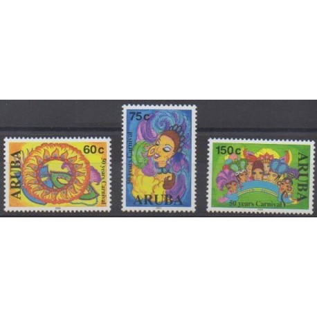 Aruba - 2004 - No 320/322 - Masques ou carnaval