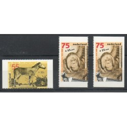 Pays-Bas - 1988- No 1309a - 1311a - 1311b - Animaux