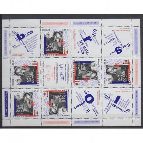 France - Blocs-Feuillets - 2020 - No F5406 - Littérature - Boris Vian