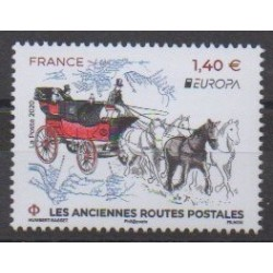 France - Poste - 2020 - Anciennes routes postales - Postal Service - Europa
