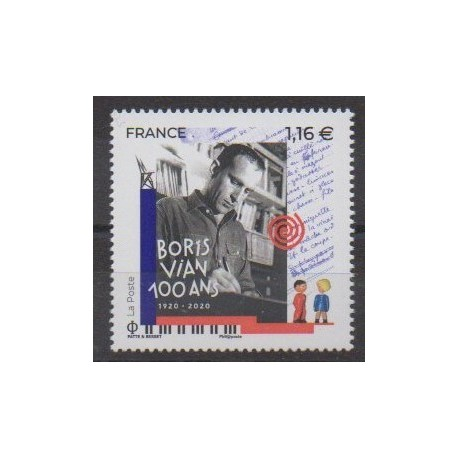 France - Poste - 2020 - Boris Vian - Literature