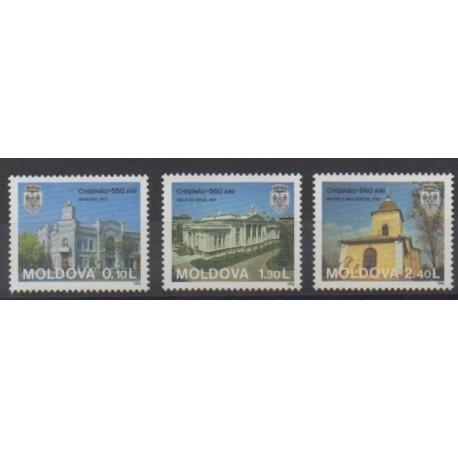 Moldova - 1996 - Nb 183/185 - Churches