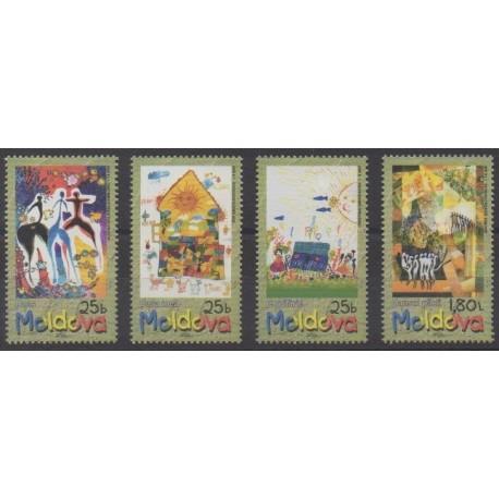 Moldavie - 2001 - No 339/342 - Dessins d'enfants
