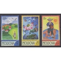 Moldavie - 2002 - No 383/385 - Dessins d'enfants - Service postal